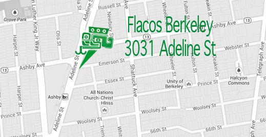 Flacos Berkeley map